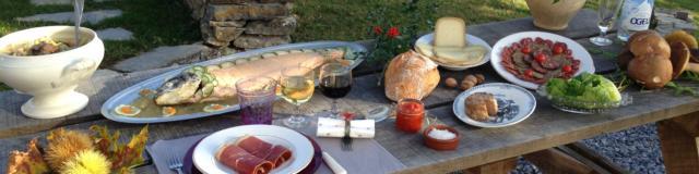 Table de spécialités gastronomiques locales du Béarn