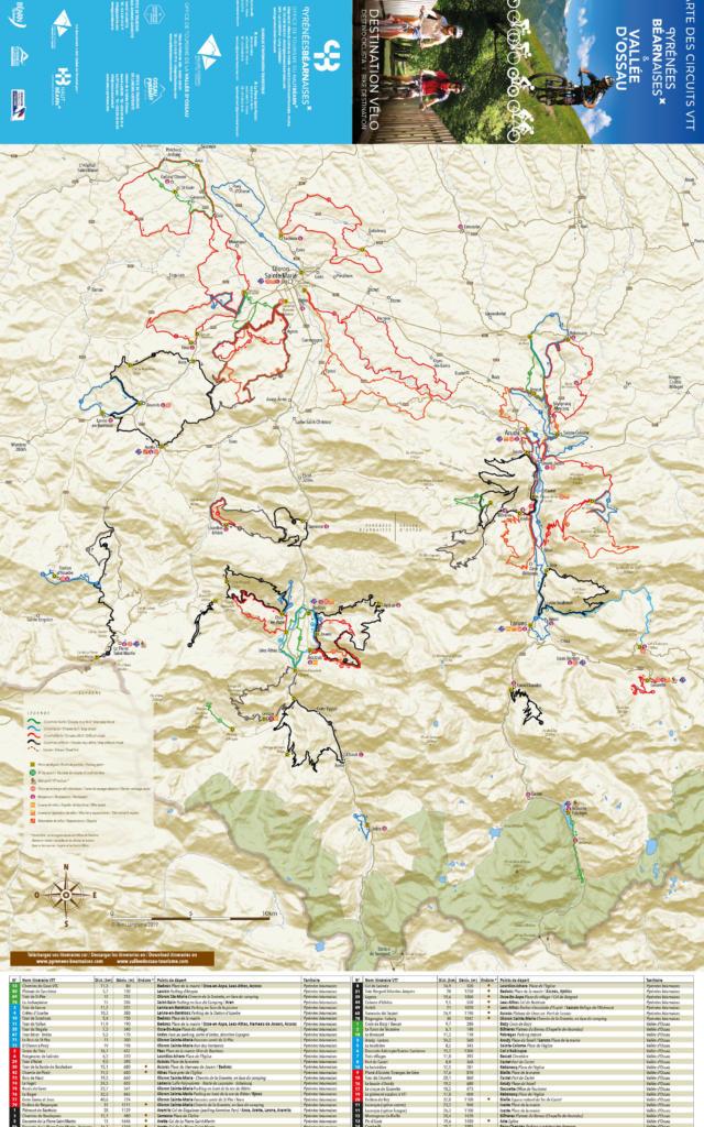 Carte VTT Haut-Béarn