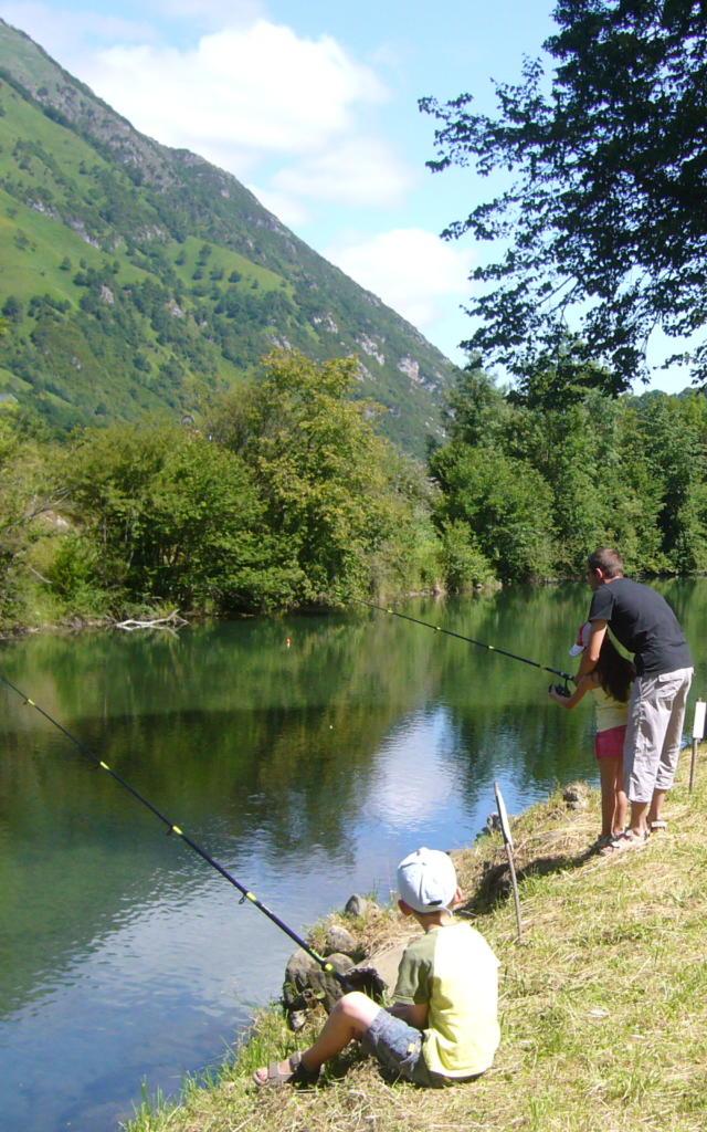 Journée de pêche sur le plan d'eau de Bedous