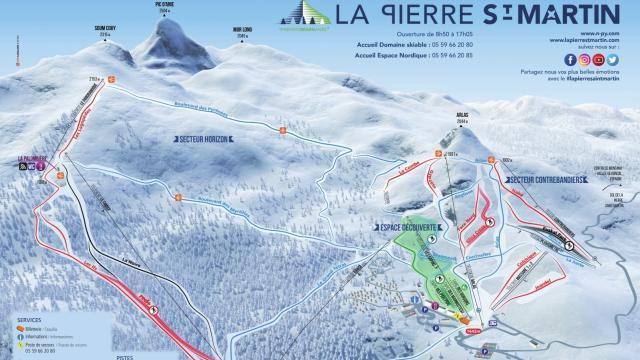 Plano de las pistas de La Pierre Saint Martin