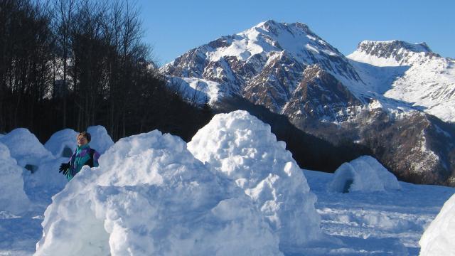 Igloos en vallée d'Aspe