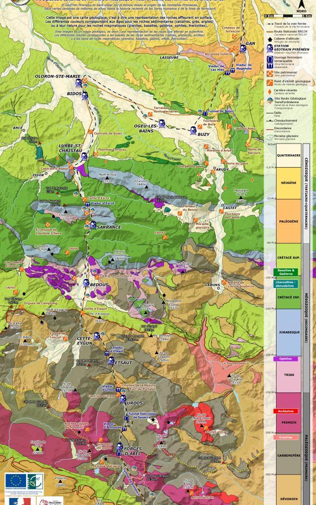 Geotrain pyrenéen - Carte de présentation