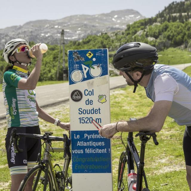 Itinéraire vélo : col du Soudet (Pyrénées béarnaises)