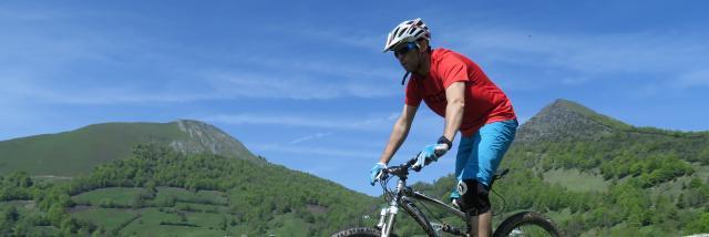 Descente VTT en Pyrenees béarnaises