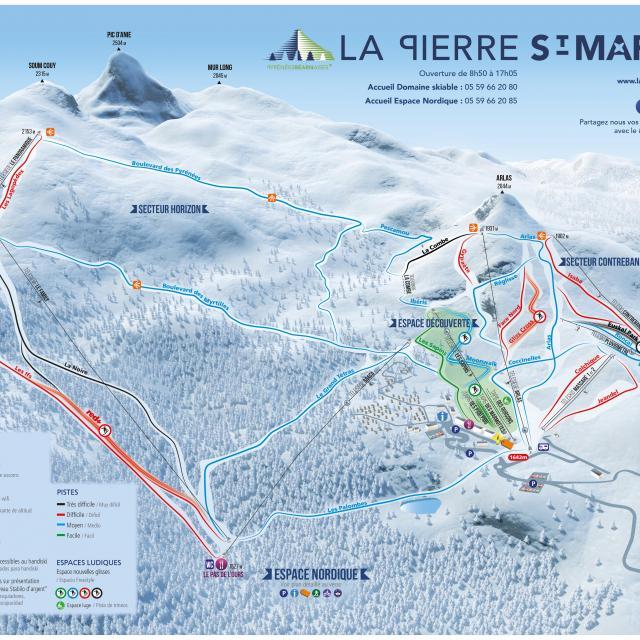 Plano de pistas La Pierre Saint-Martin