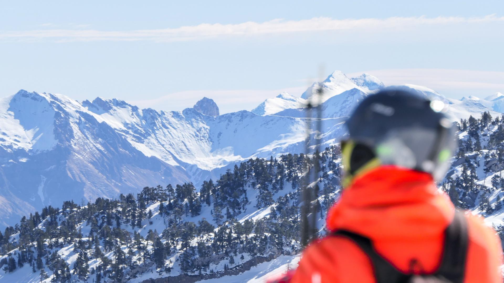 Esquiador en La Pierre Saint Martin