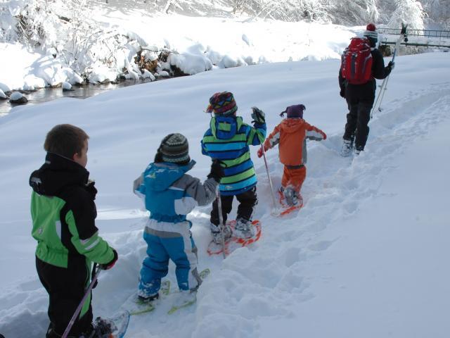Randonnées raquettes accompagnées dans un paysage enneigé des Pyrénées Béarnaises
