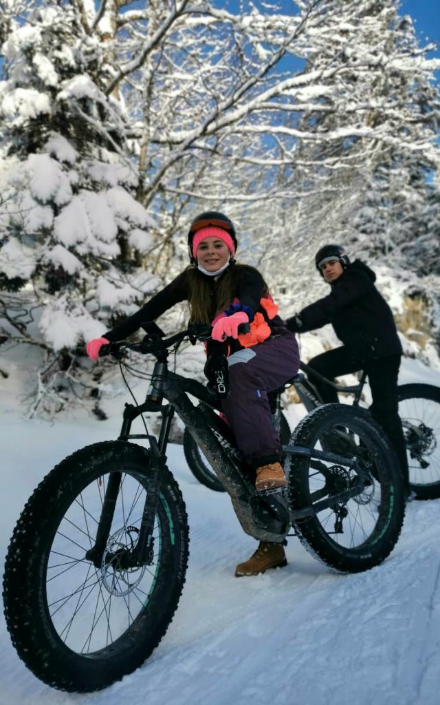 Fat Bike à l'espace nordique du Braca : activités d'hiver à la Pierre Saint-Martin en Pyrénées béarnaises