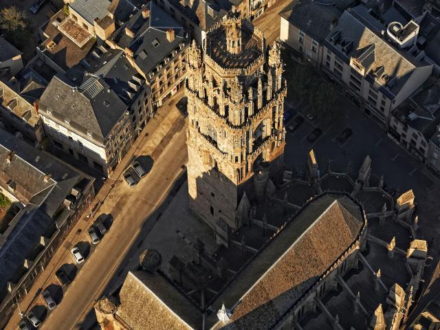 Cathédrale de Rodez vue d'en haut