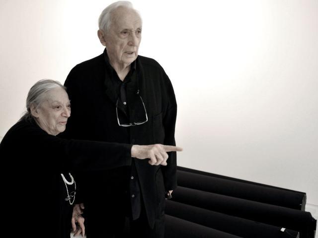 Pierre et Colette Soulages à Rodez