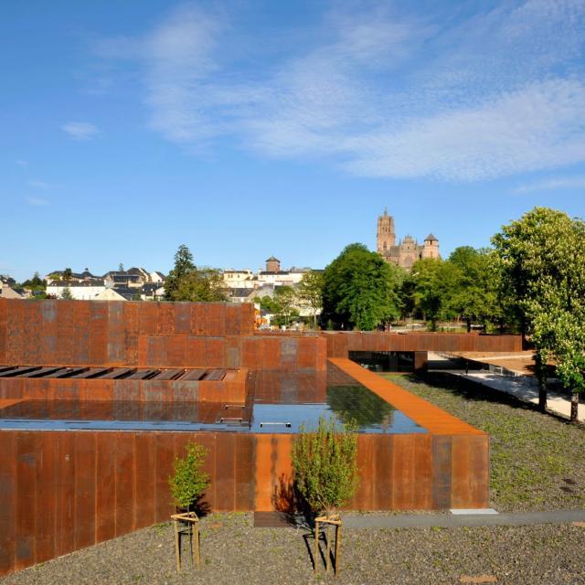 Vue du toit du musée Soulages de Rodez
