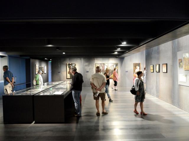 Salle intérieure du musée Soulages à Rodez