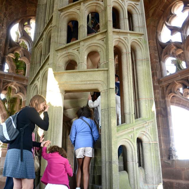 Dernier escalier du clocher de la cathédrale de Rodez