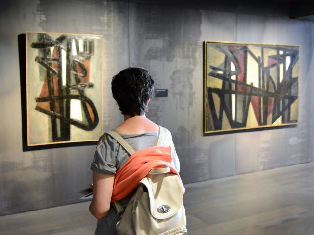 Visite de salles au musée Soulages de Rodez