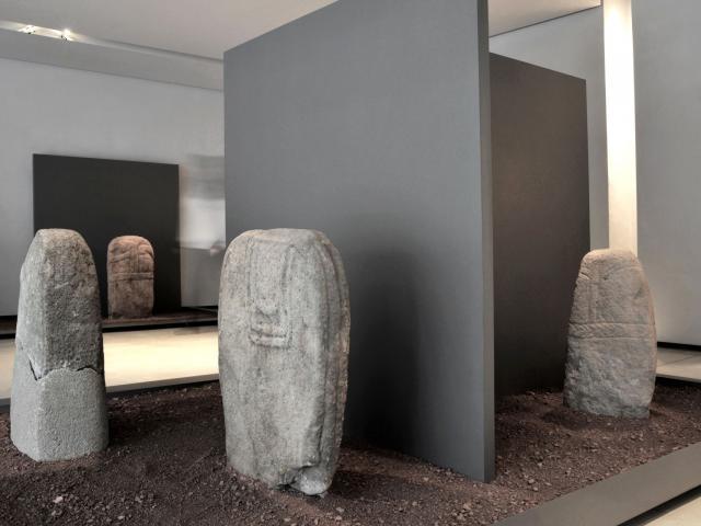 Statues-menhirs au musée Fenaille de Rodez