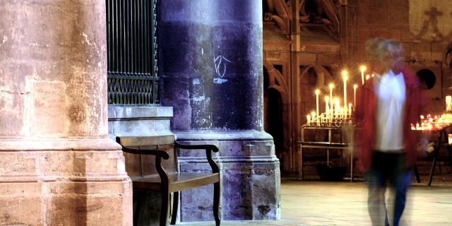 Cierges à la cathédrale de Rodez