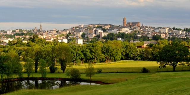 Vue de Rodez depuis le golf