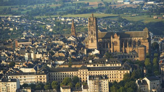 Vue panoramique de la ville de Rodez