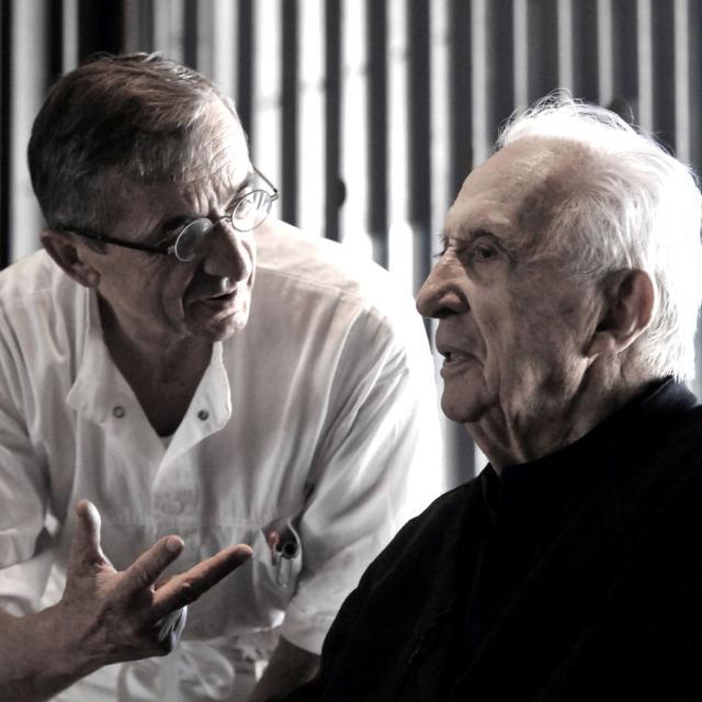 Le chef BRAS avec Pierre Soulages à Rodez