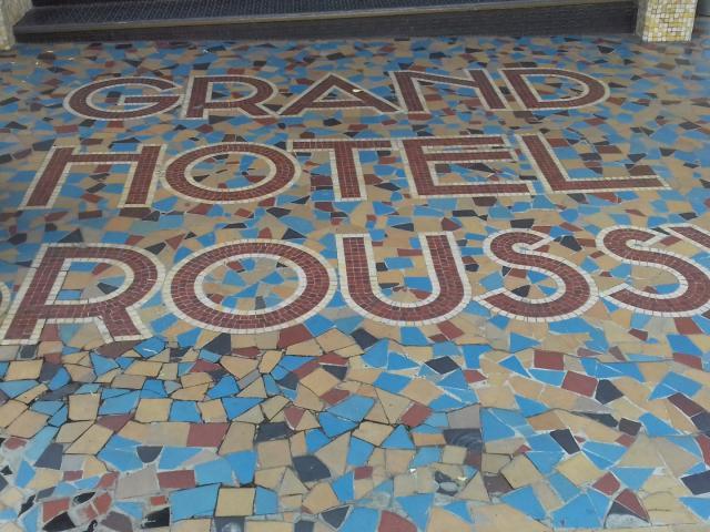 Sol en mosaïque du Café Broussy à Rodez