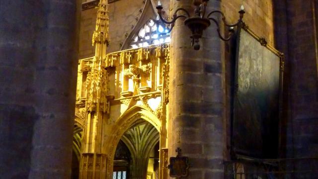 Jubé à l'intérieur de la cathédrale de Rodez