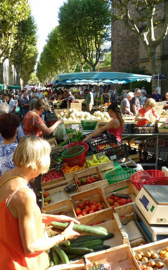 Marché de produits locaux à Rodez