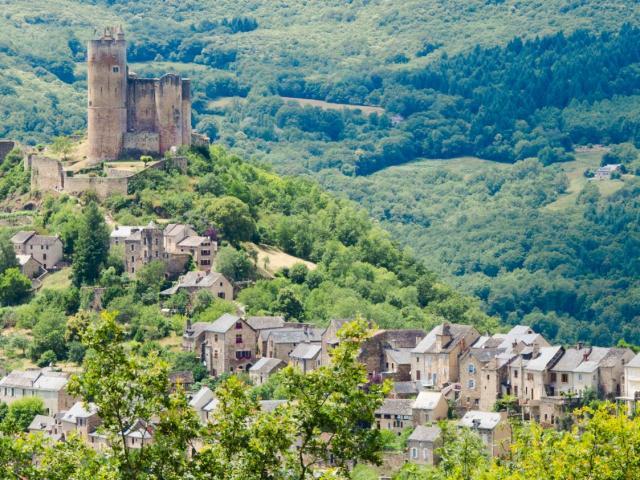 Vue sur le château de Najac