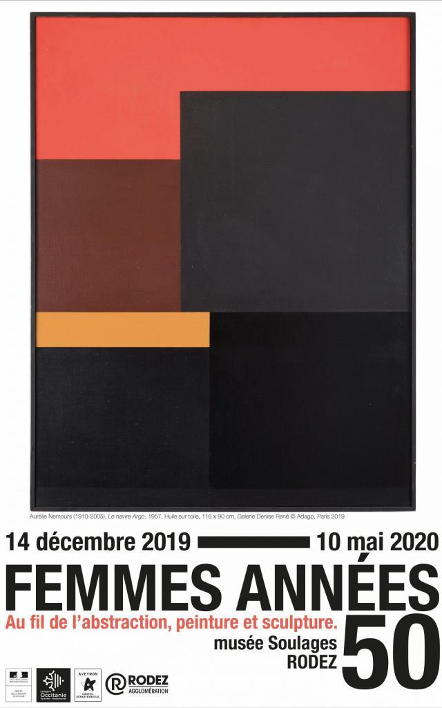 Affiche de l'exposition temporaire Femmes Années 50 à Soulages