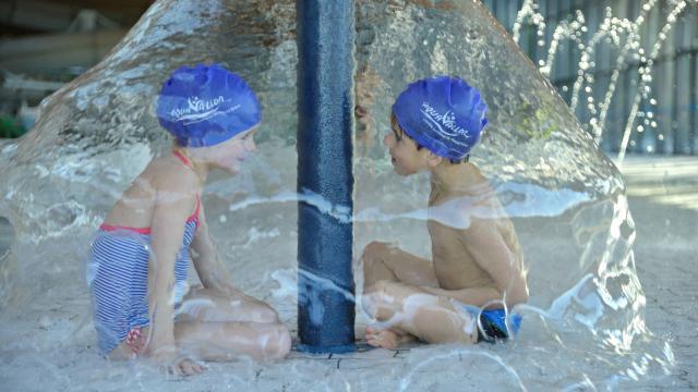 Espace ludique pour les enfants au centre Aquavallon de Rodez