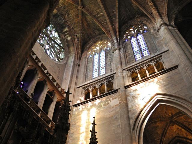 Lumière dans la cathédrale de Rodez
