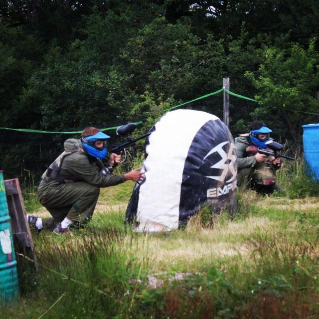 Partie de Paintball à Combelles