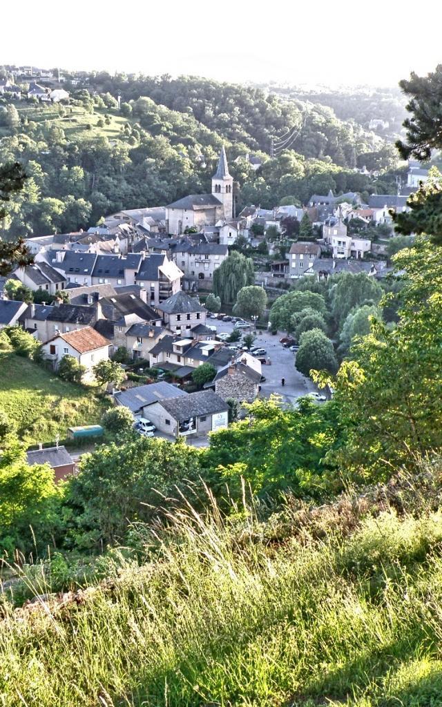 Vue sur le village du Monastère