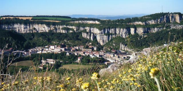 Vue du village de Roquefort sur Soulzon