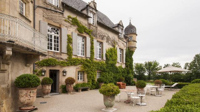 Terrasse du Château de Labro