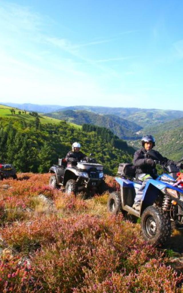 Randonnée Quad en Aveyron avec Vent de Liberté