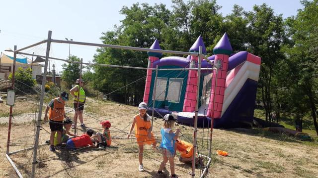 Jeux pour enfants au Parc Aventure