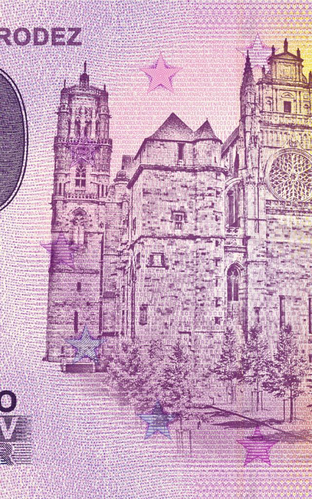Billet Souvenir de la cathédrale de Rodez
