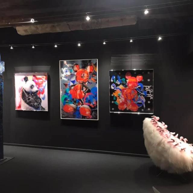 Salle d'exposition à la galerie Annotiau