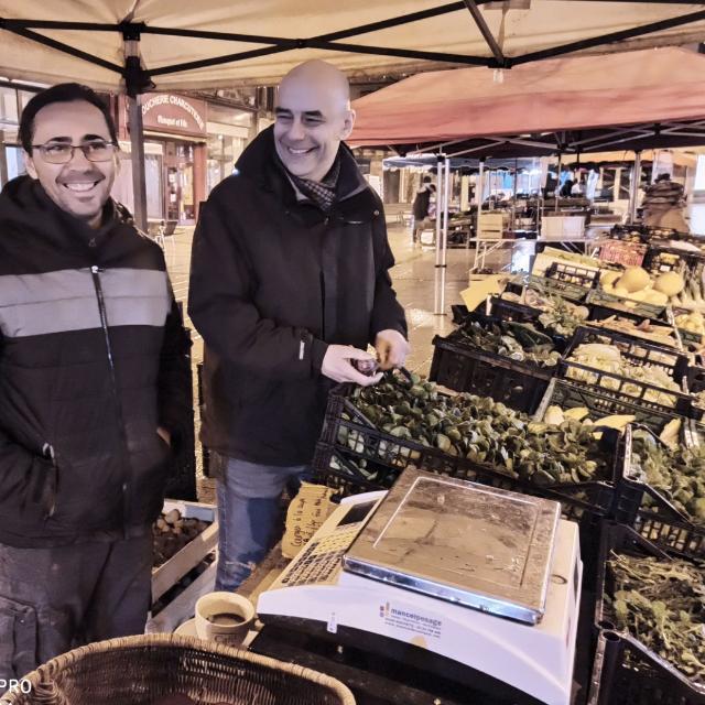 Le marché avec le chef Chaillou