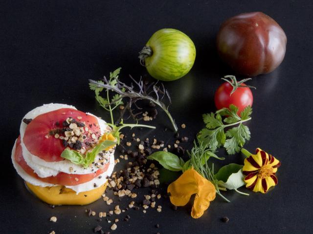 Tomates du marché de Rodez par le Café Bras