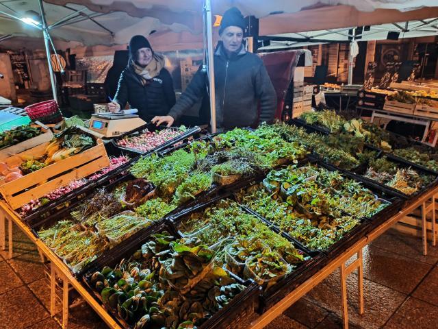 Légumes verts du marché de Rodez