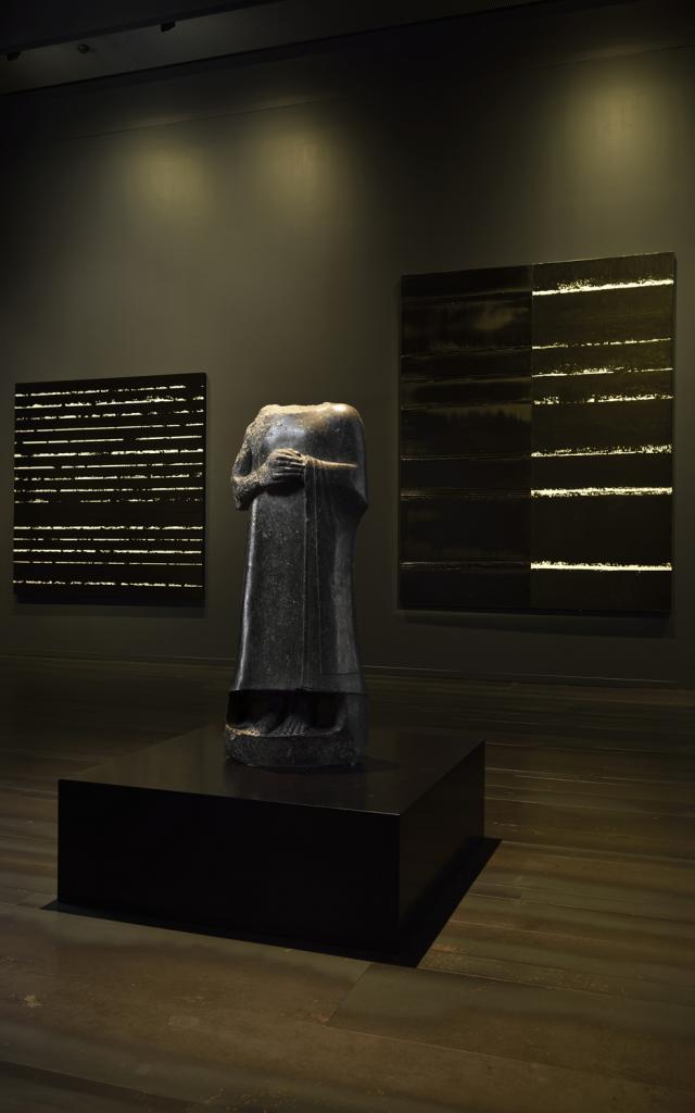 Statue Acéphale De Gudea Dite à L'épaule Brisée. Dédiée Au Dieu Ningirsu Vers 2120 Av Jc. Prêt Musée Du Louvre, Paris