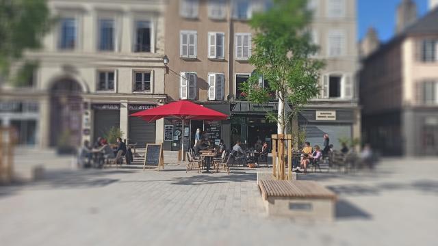 Terrasses place de la Cité à Rodez
