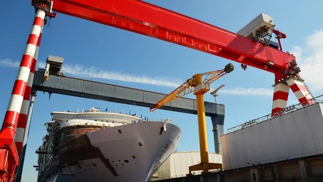 Visite des chantiers navals de Saint-Nazaire