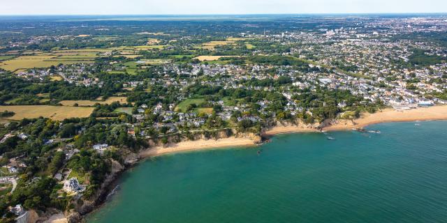 Saint-Nazaire et ses plages vue du ciel