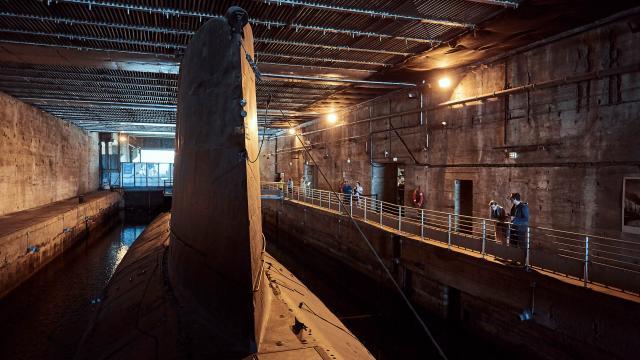 Visite du sous-marin Espadon à Saint-Nazaire