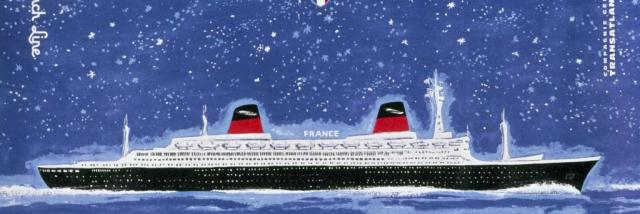 Peintre : René Bouvard. Éditeur : Compagnie Générale Transatlantique. Collection Saint-Nazaire Agglomération Tourisme-Écomusée. Cliché Jean-Claude Lemée.