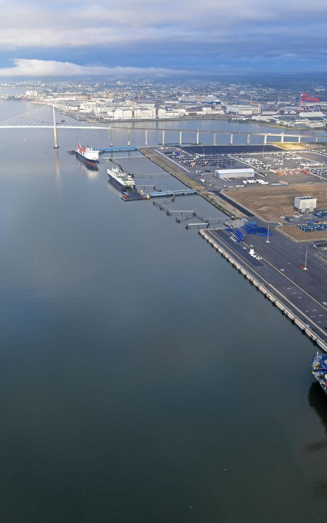 Port de Saint-Nazaire vue du ciel