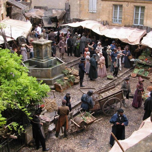 Tournage de film à Sarlat