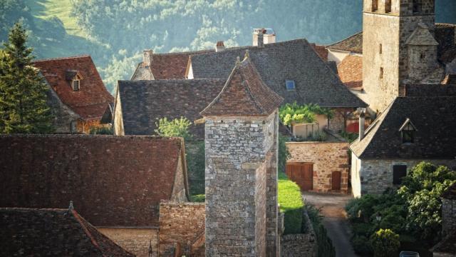 Village de Loubressac dans le Lot